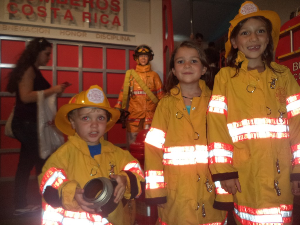 Dressing up as firemen